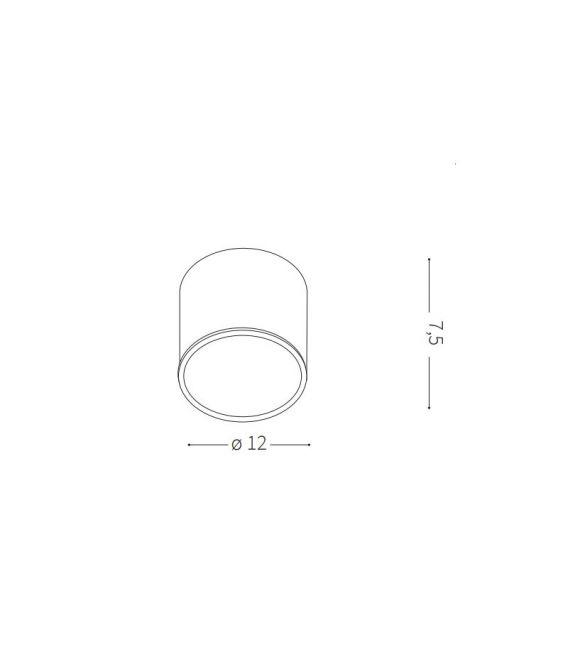Sieninis šviestuvas URANO PL1 Small ANTRACITE IP44 168111