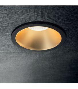 12W LED Įmontuojamas šviestuvas GAME ROUND Black Gold 192345