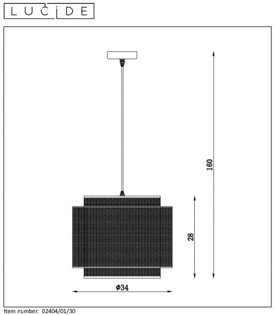 Pakabinamas šviestuvas ORRIN 02404/01/30