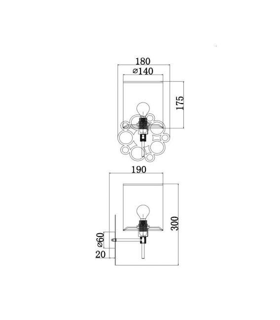Sieninis šviestuvas ANNA H007WL-01G