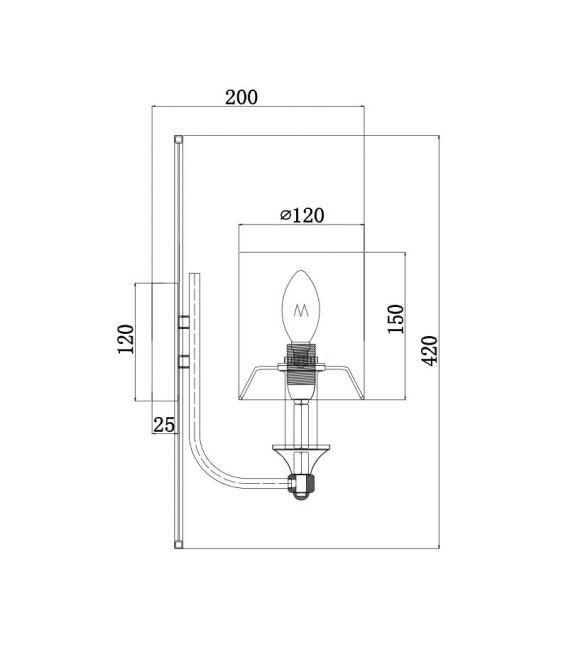 Sieninis šviestuvas VITTORIA H005WL-01BG