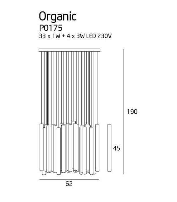 Pakabinamas šviestuvas ORGANIC Chrome P0175