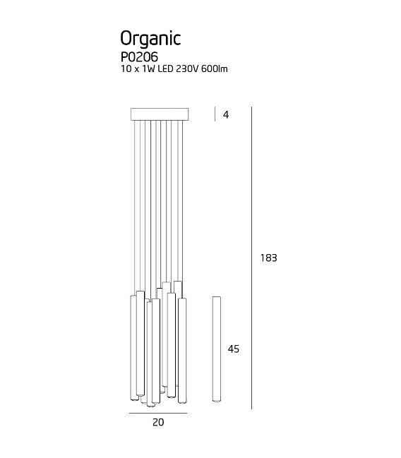 10W LED Pakabinamas šviestuvas ORGANIC Chrome P0206