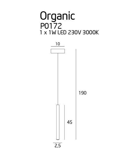 1W LED Pakabinamas šviestuvas ORGANIC Chrome P0172