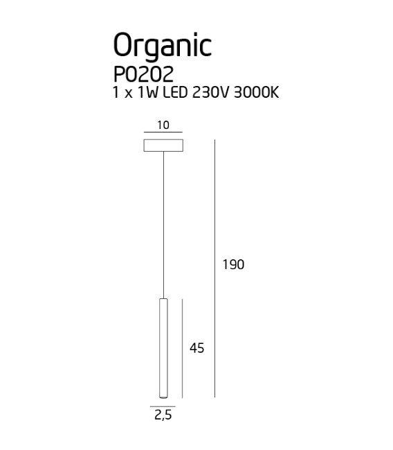 1W LED Pakabinamas šviestuvas ORGANIC White P0202