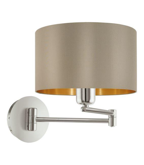 Sieninis šviestuvas MASERLO Taupe 95055