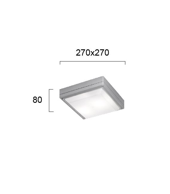Lubinis šviestuvas LEROS SQ Grey IP44 4049300