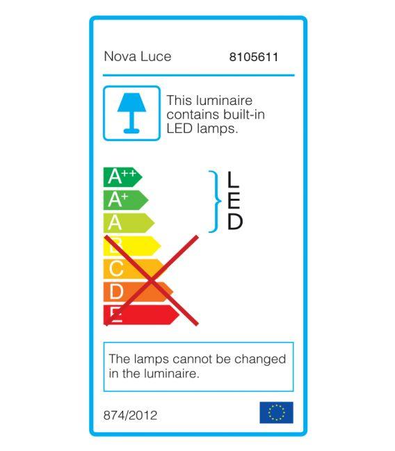 50W LED Lubinis šviestuvas ALBI Black Ø61 dimeriuojamas 8105611
