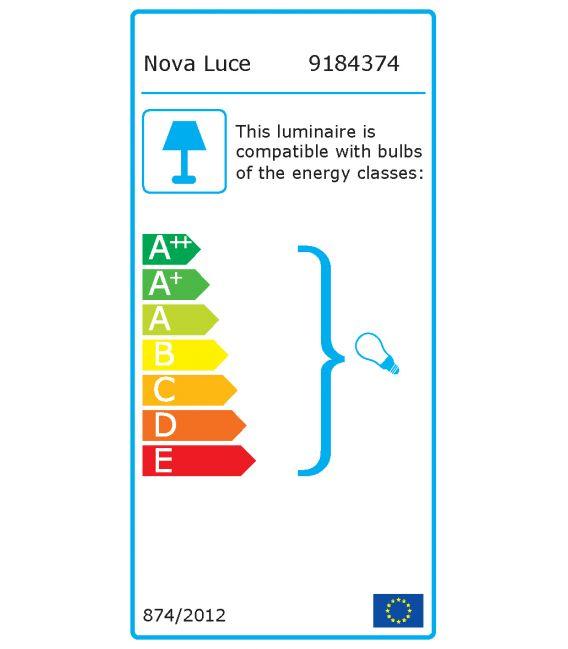 Lubinis šviestuvas OSLO Black H30 9184374