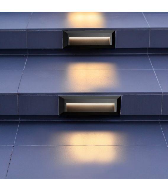 1.7W LED Įmontuojamas šviestuvas ANKLE Black IP65 8732GY