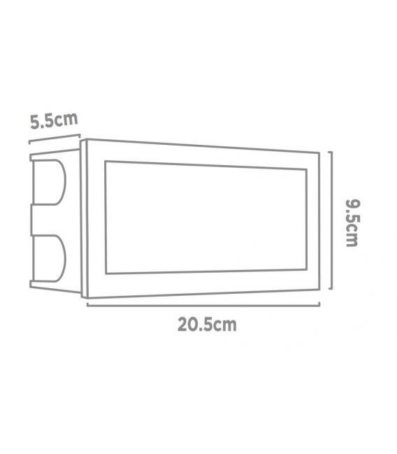 3.5W LED Įmontuojamas šviestuvas ANKLE IP65 0762