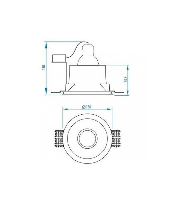 Įmontuojamas šviestuvas BLANCO ROUND A5657