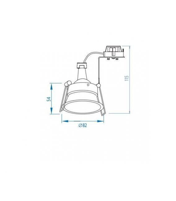 Įmontuojamas šviestuvas MINIMA ADJ 230V