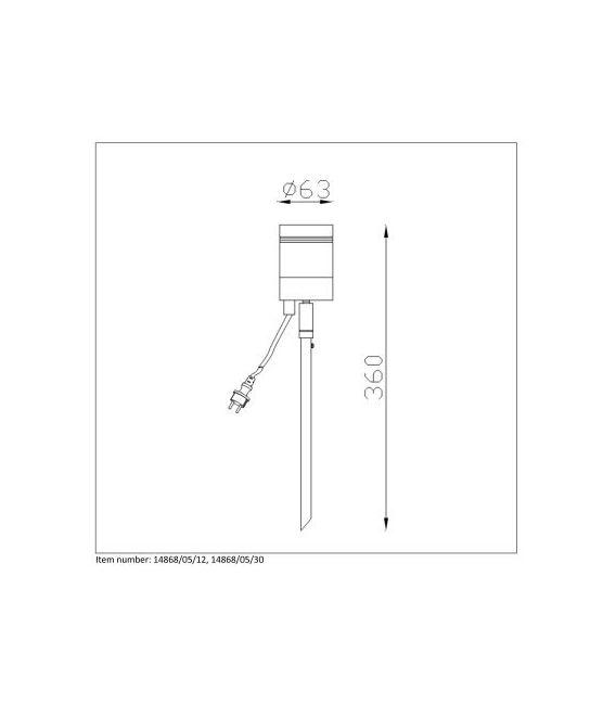 Įsmeigiamas šviestuvas ARNE-LED Black IP44 14868/05/30