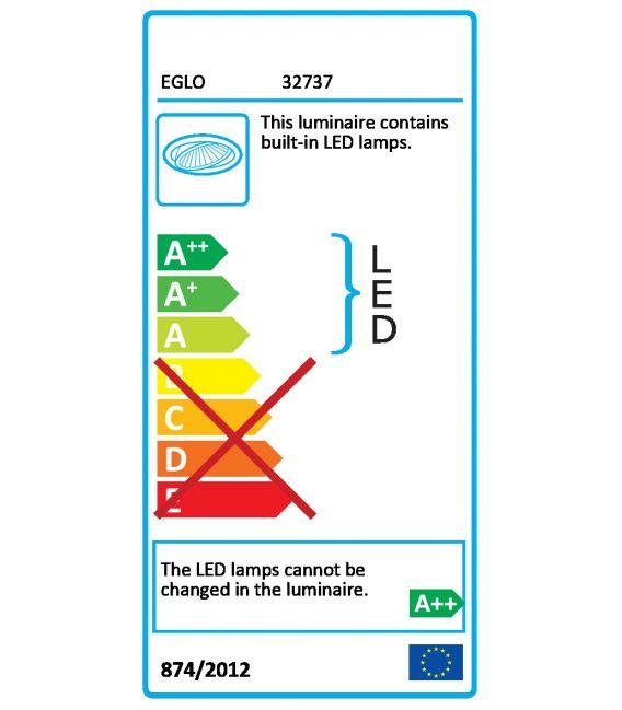 5.4W LED Įmontuojama panelė FUEVA-C EGLO CONNECT Ø12 Dimeriuojama 32737