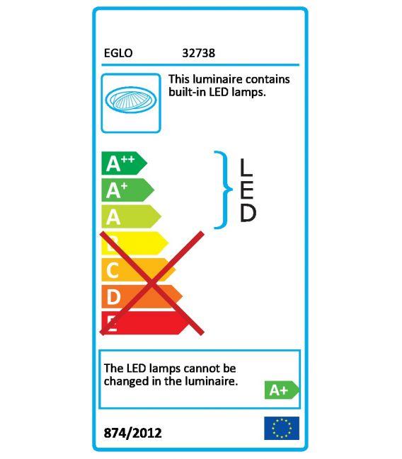 10.5W LED Įmontuojama panelė FUEVA-C EGLO CONNECT Ø17 32738