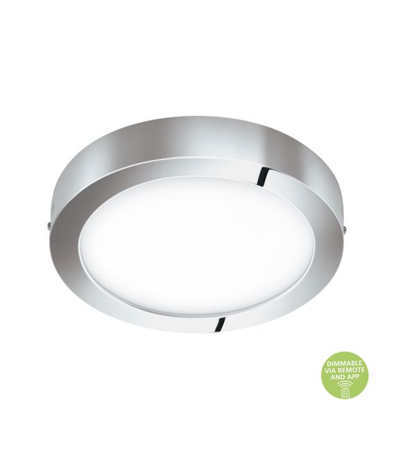 21W Paviršinė LED panelė EGLO CONNECT FUEVA-C Chrome IP44 98559
