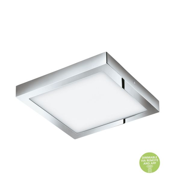 21W LED Paviršinė LED panelė EGLO CONNECT FUEVA-C Square Chrome IP44 98561