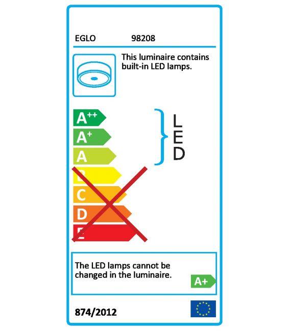 19.5W LED Lubinis šviestuvas EGLO ACCESS SARSINA-A Ø45 98208