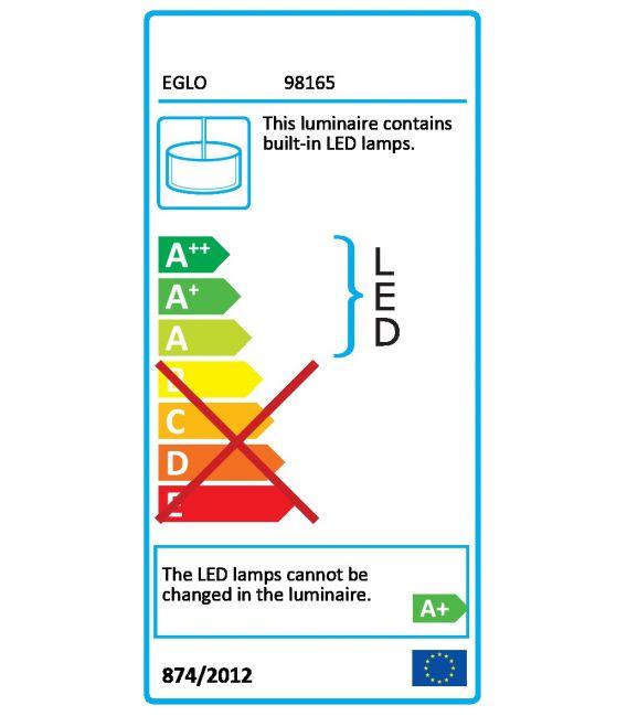 22.5W LED Pakabinamas šviestuvas ALPICELLA Black Dimeriuojamas 98165