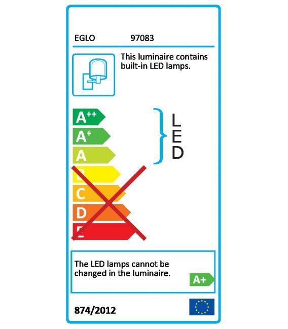 14W LED Sieninis šviestuvas VADUMI IP44 97083