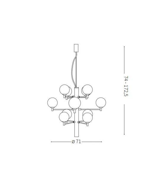 Pakabinamas šviestuvas COPERNICO SP12 Black 197319