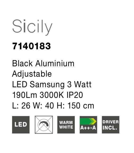 3W LED Toršeras SICILY 7140183