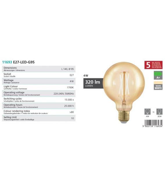 LED LEMPA 4W E27 11693