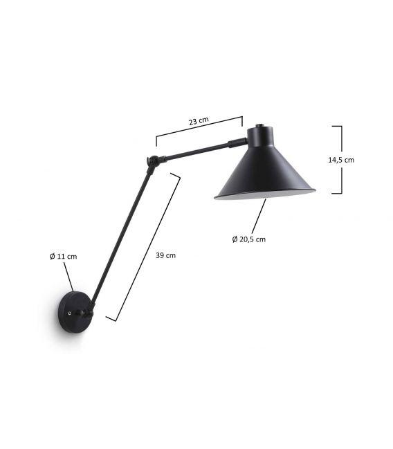Sieninis šviestuvas ODINE Black AA0634R01