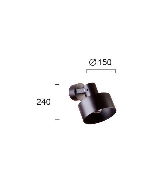 Sieninis šviestuvas NORTON Black 4185201