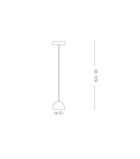 4.5W LED Pakabinamas šviestuvas TALL SP1 Small Black 196800