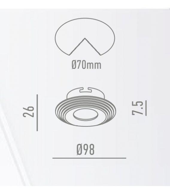 Įmontuojamas šviestuvas AROS White Ø9.8 NC1760R YLD-000647