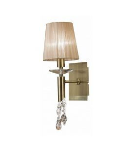 Sieninis šviestuvas TIFFANY Brass 3884