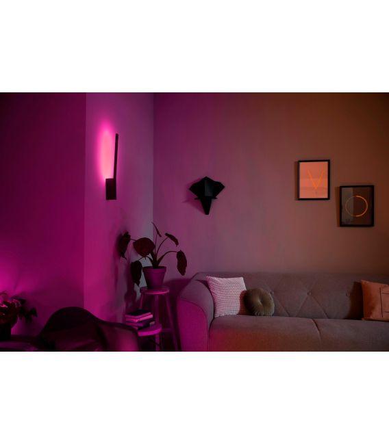 12W LED Sieninis šviestuvas LIANE HUE LED Black 8718696169674