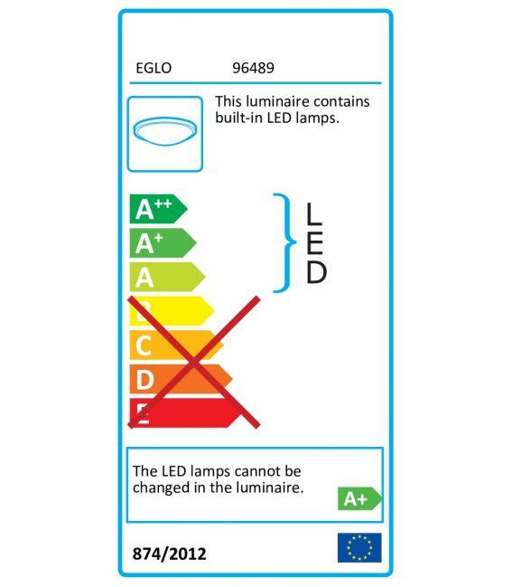 16.5W LED Lubinis šviestuvas IPHIAS IP44 96489