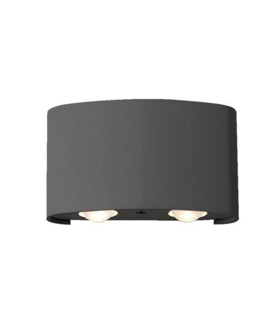 4W LED Sieninis šviestuvas TWIST Gray IP54 4211001