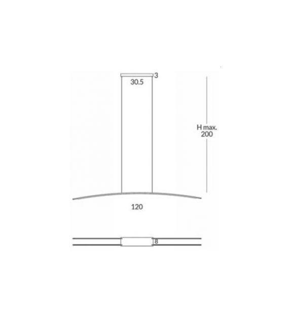 22W LED Pakabinamas šviestuvas RITA 2x1.2m 29822/120