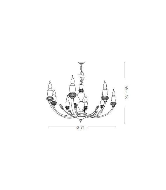 Pakabinamas šviestuvas VANITY SP8 206622