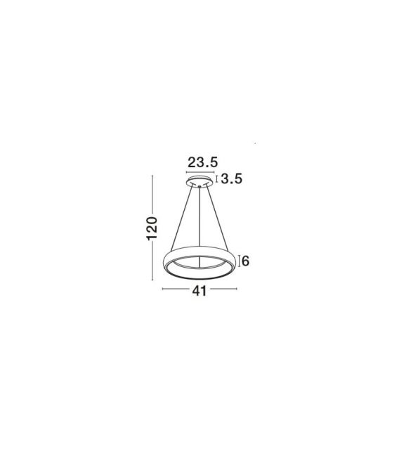 32W LED Pakabinamas šviestuvas ALBI Grey Dimeriuojamas 8105619