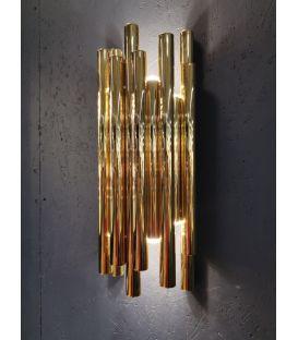 8W LED Sieninis šviestuvas ORGANIC Gold W0187