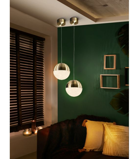 9.6W LED Pakabinamas šviestuvas SPHERE Ø20 Brass 793407