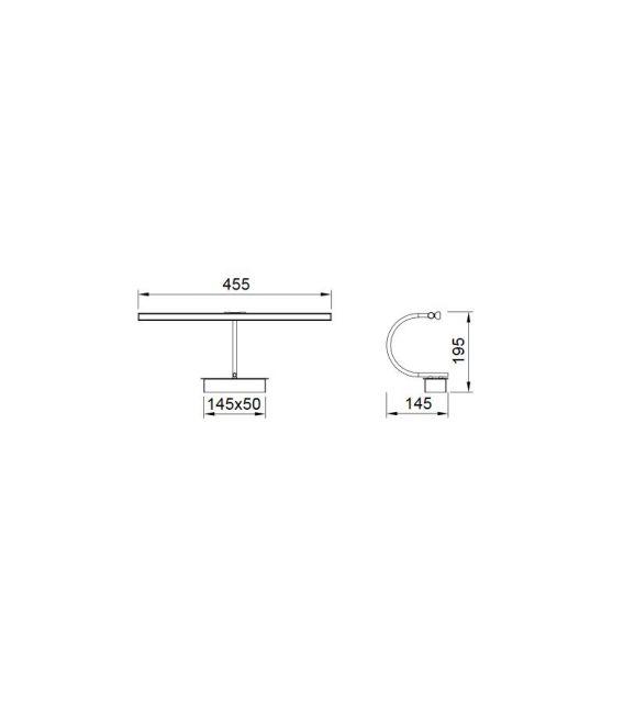8W LED Sieninis šviestuvas PARACURU Brass 6382