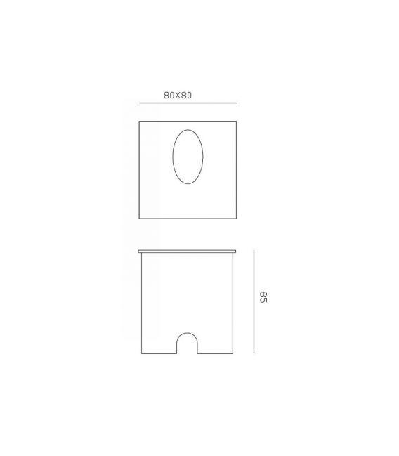3W LED Įmontuojamas šviestuvas ASPEN White IP65 7026