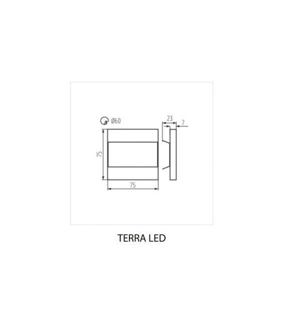 0.8W LED Sieninis šviestuvas su judesio davikliu TERRA 26849