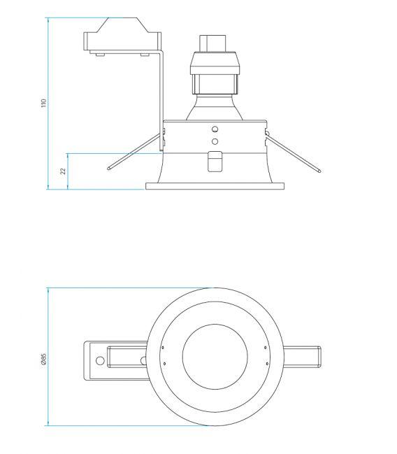Įmontuojamas šviestuvas MINIMA White IP65 1249012