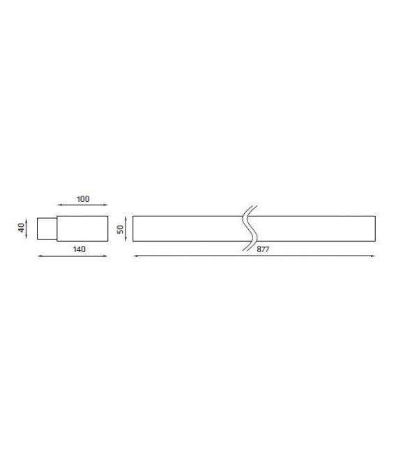 Sieninis šviestuvas VINDO S91 39W VINDO S91