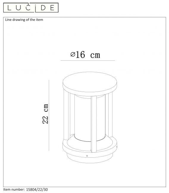 Pastatomas šviestuvas CADIX IP65  15804/22/30