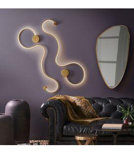 19.5W LED Sieninis šviestuvas GRAFOS Gold 227032