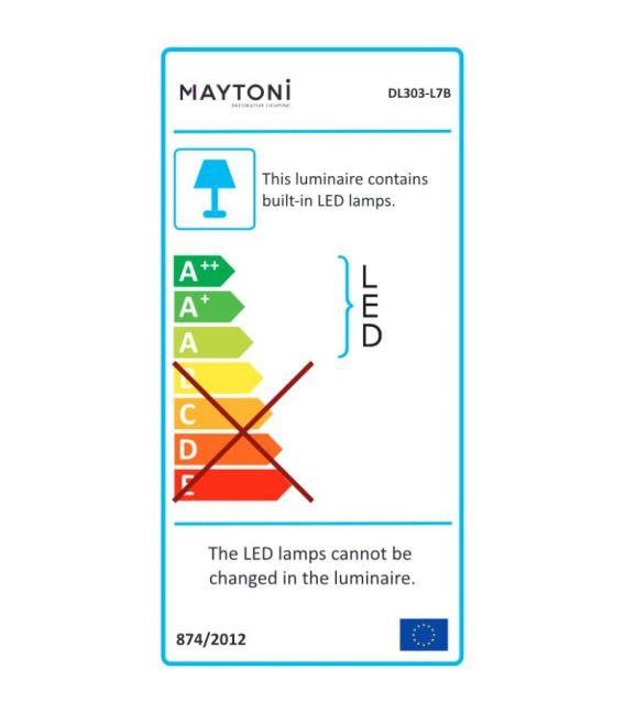 7W LED Įmontuojamas šviestuvas PHANTON Round Black DL303-L7B