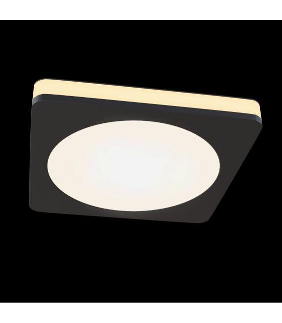 7W LED Įmontuojamas šviestuvas PHANTON Square Black DL2001-L7B